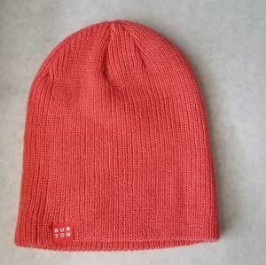 Burton orange knit cap
